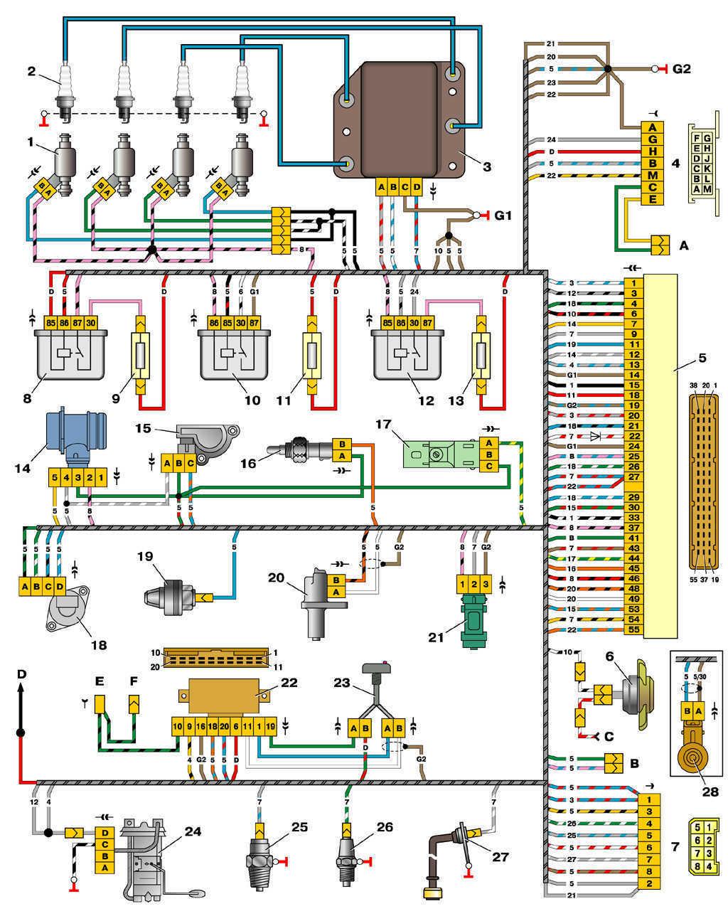 схема инжектора 2110